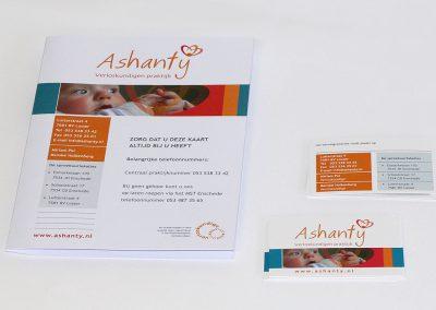 Huisstijl Ashanty Verloskundigen praktijk
